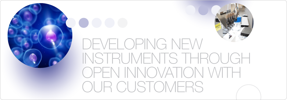 Developing novel instruments through open innovation with our customers
